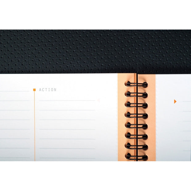 Rhodia Rhodiactive Meeting paper Book 90g paper - Lined 80 sheets - 9 x 11 3/4 - Black cover