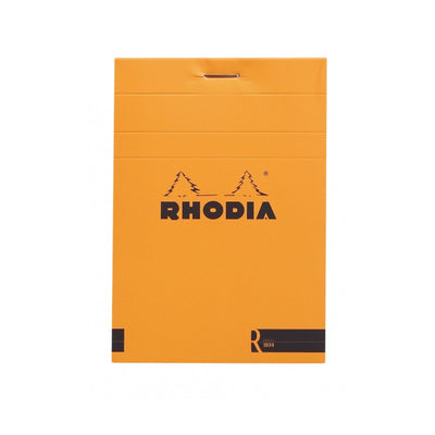 "Rhodia ""R"" Premium Stapled Notepad - Blank 70 sheets - 3 3/8 x 4 3/4 - Orange cover"