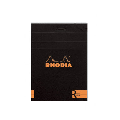 "Rhodia ""R"" Premium Stapled Notepad - Blank 70 sheets - 3 3/8 x 4 3/4 - Black cover"
