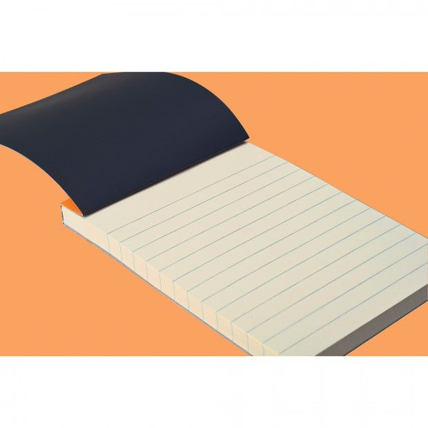 "Rhodia ""R"" Premium Stapled Notepad - Lined 70 sheets - 3 3/8 x 4 3/4 - Orange cover"