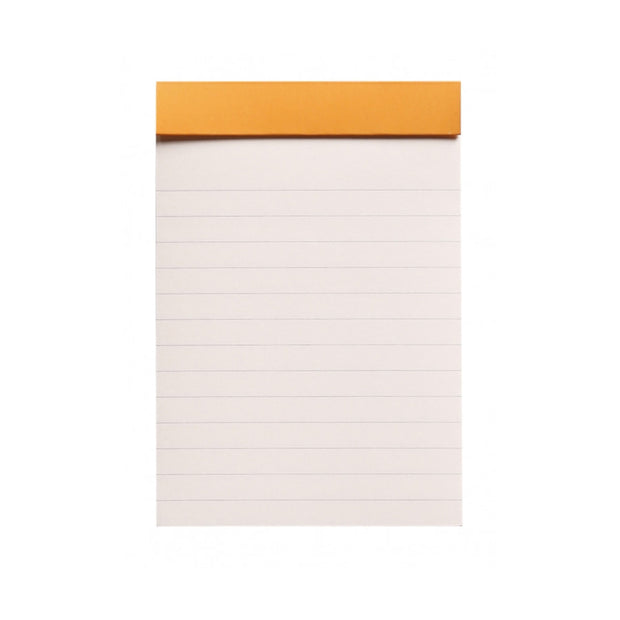 "Rhodia ""R"" Premium Stapled Notepad - Lined 70 sheets - 3 3/8 x 4 3/4 - Black cover"