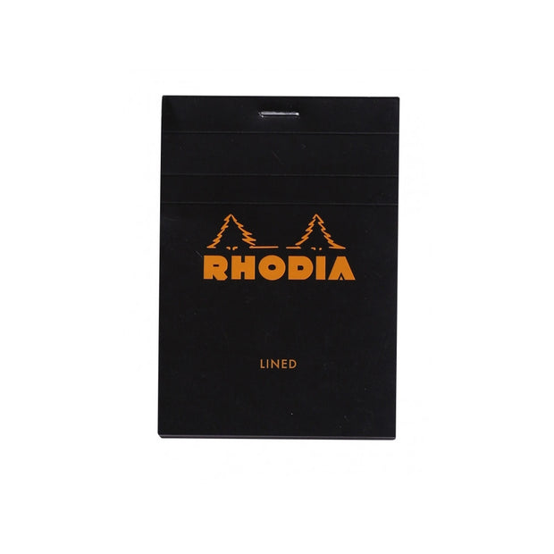 Rhodia Staplebound Notepad - Lined 80 sheets - 3 3/8 x 4 3/4 - Black cover