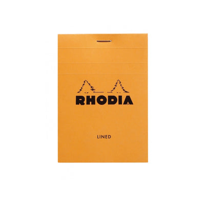 Rhodia Staplebound Notepad - Lined 80 sheets - 3 3/8 x 4 3/4 - Orange cover
