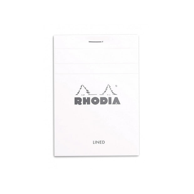 Rhodia Staplebound Notepad - Lined 80 sheets - 3 3/8 x 4 3/4 - White cover