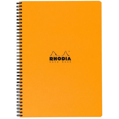 Rhodia Wirebound Notebook - Graph 80 sheets - 9 x 11 3/4 - Orange cover