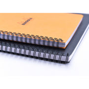Rhodia Wirebound Notebook - Lined w/ margin 80 sheets - 9 x 11 3/4 - Orange cover