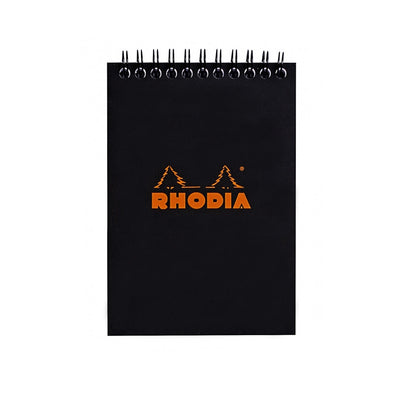 Rhodia Wirebound Notepad - Graph 80 sheets - 4 x 6 - Black cover