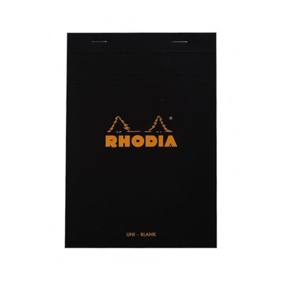 Rhodia Staplebound Notepad - Blank 80 sheets - 6 x 8 1/4 - Black cover