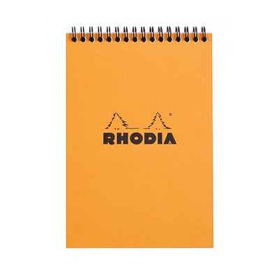 Rhodia Wirebound Notepad - Graph 80 sheets - 6 x 8 1/4 - Orange cover