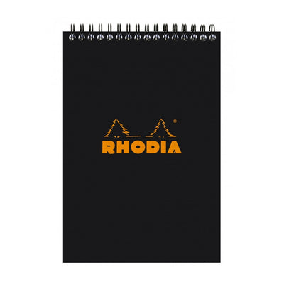 Rhodia Wirebound Notepad - Lined 80 sheets - 6 x 8 1/4 - Black cover