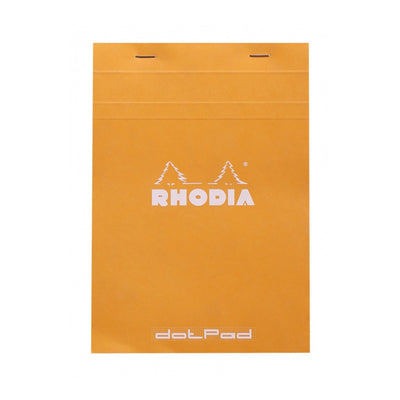 Rhodia Staplebound Notepad - Dot grid 80 sheets - 6 x 8 1/4 - Orange cover