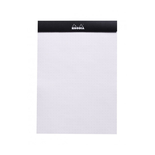 Rhodia Staplebound Notepad - Dot grid 80 sheets - 6 x 8 1/4 - Black cover