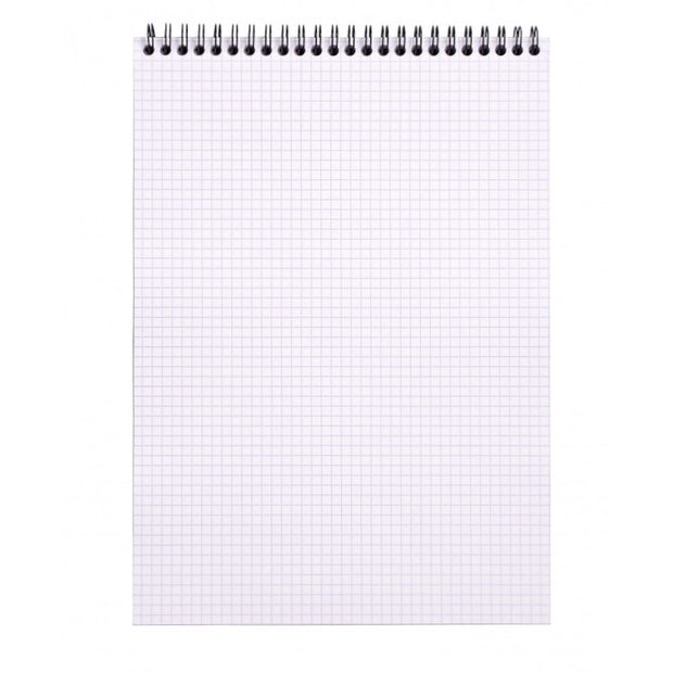 Rhodia Wirebound Notepad - Graph 80 sheets - 8 1/4 x 11 3/4 - Orange cover