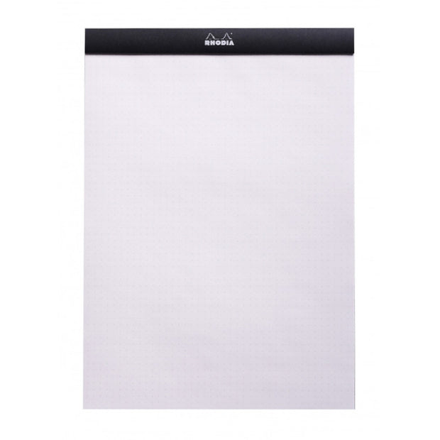 Rhodia Staplebound Notepad - Dot grid 80 sheets - 8 1/4 x 11 3/4 - Black cover