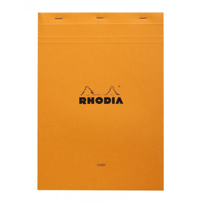Rhodia Staplebound Notepad - Lined w/ margin 80 sheets - 8 1/4 x 11 3/4 - Orange cover