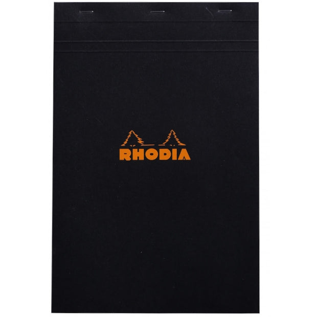 Rhodia Staplebound Notepad - Graph 80 sheets - 8 1/4 x 12 1/2 - Black cover