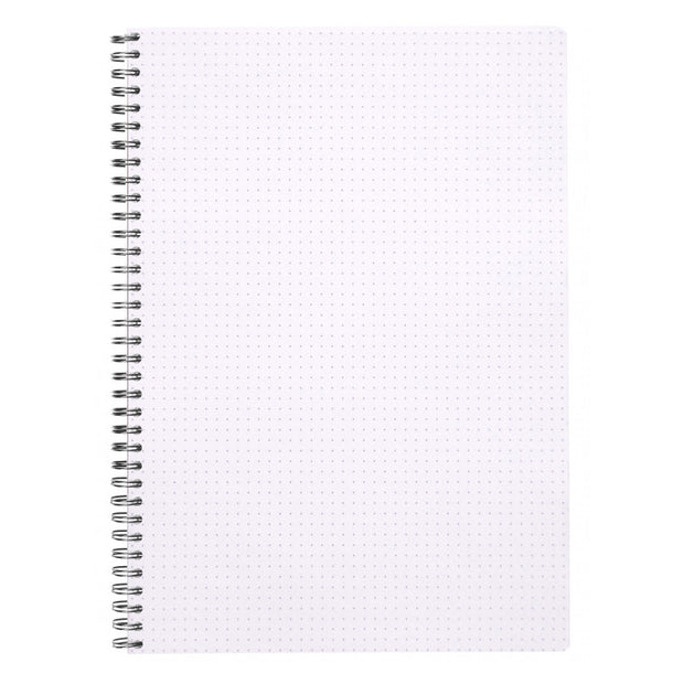 Rhodia Classic Wirebound Notebook Dot 80 Sheets - 9 x 11 3/4 - Black