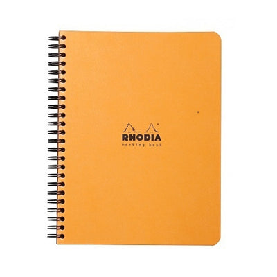 Rhodia Meeting Book 80g paper - Lined 80 sheets - 6 1/2 x 8 1/4 - Orange cover