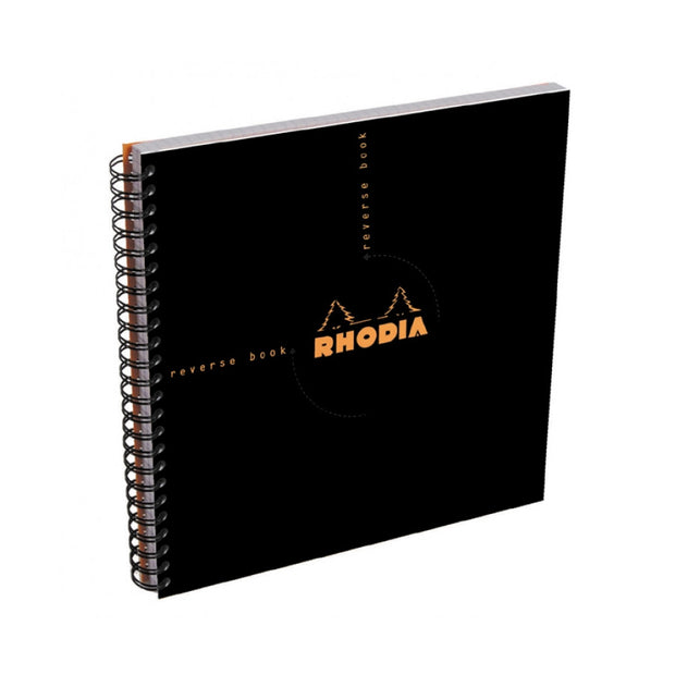 Rhodia Reverse Book - Graph 80 sheets - 8 1/4 x 8 1/4 - Black cover