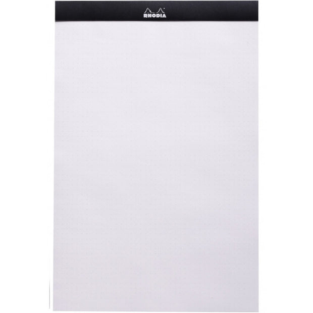 Rhodia Staplebound Notepad - Dot grid 80 sheets - 8 1/4 x 12 1/2 - Black cover