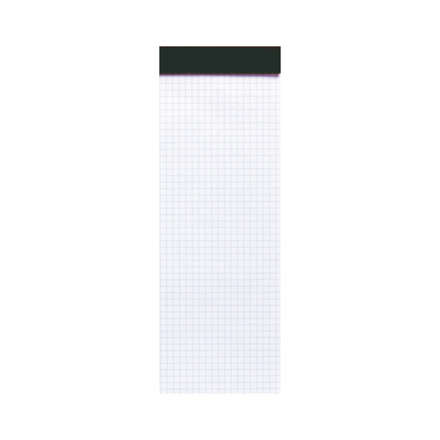 Rhodia Staplebound Notepad - Graph 80 sheets - 3 x 8 1/4 - Black cover