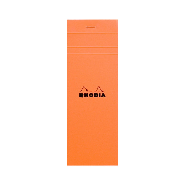 Rhodia Staplebound Notepad - Graph 80 sheets - 3 x 8 1/4 - Orange cover