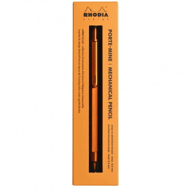 "Rhodia Mechanical Pencil - 5"" long - Orange"