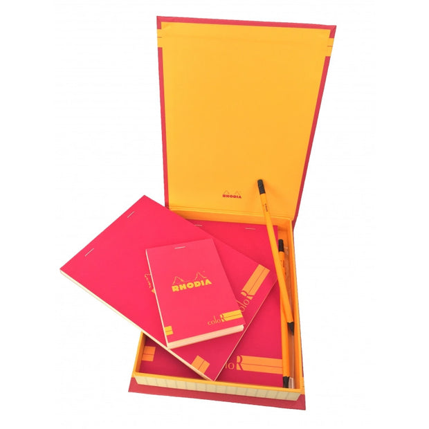 Rhodia ColoR Premium Treasure Box - 7 x 9 x 1 - Poppy