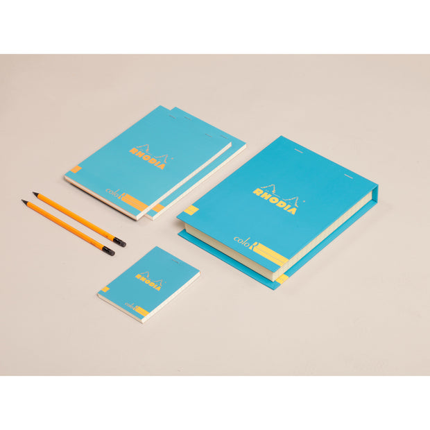 Rhodia ColoR Premium Treasure Box - 7 x 9 x 1 - Turquoise