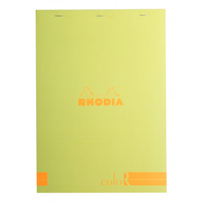Rhodia ColoR Pads, Anise Cover, Ruled Pages, 8 1/4 x 11 3/4