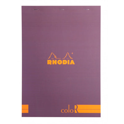 Rhodia ColoR Pads, Violet Cover, Ruled Pages, 8 1/4 x 11 3/4