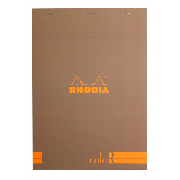 Rhodia ColoR Pads, Taupe Cover, Ruled Pages, 8 1/4 x 11 3/4