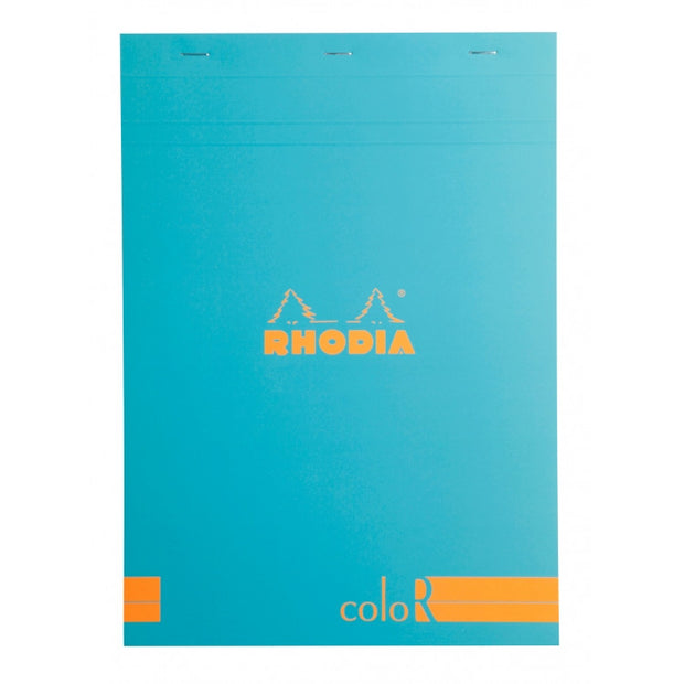 Rhodia ColoR Pads, Turquoise Cover, Ruled Pages, 8 1/4 x 11 3/4