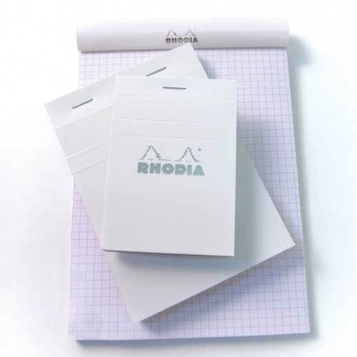 Rhodia Staplebound Notepad - Graph 80 sheets - 3 x 4 - White cover