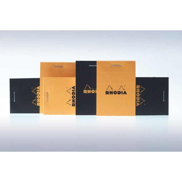 Rhodia Staplebound Notepad - Lined 80 sheets - 2 x 3 - Orange cover