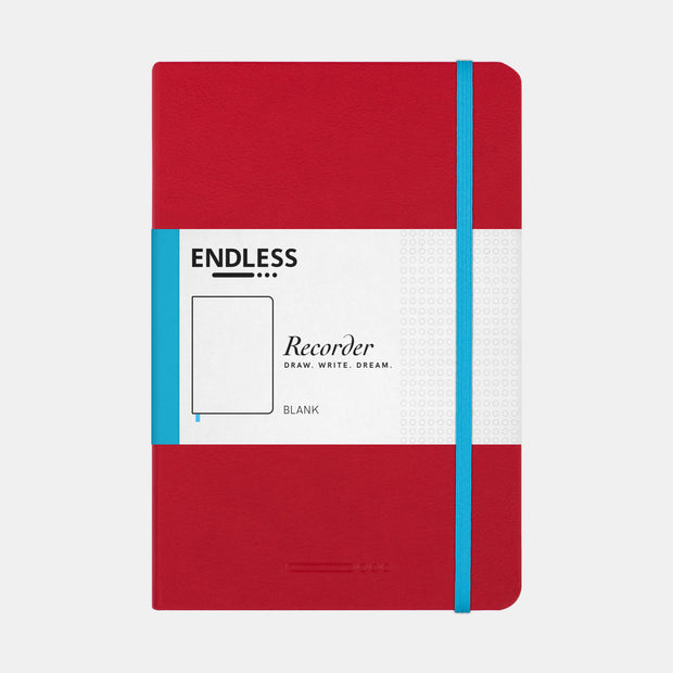 Endless A5 Hardcover Notebook - Crimson Sky - Blank