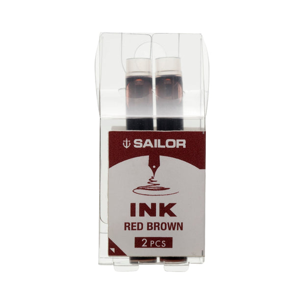 Sailor Compass Ink Cartridges - Red Brown