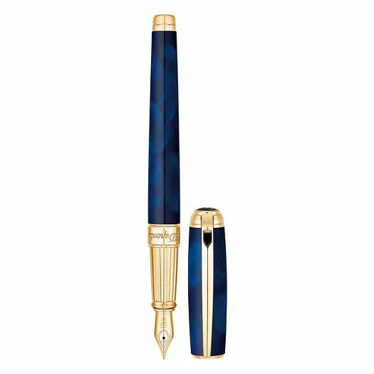 S.T. Dupont Line D Large Fountain Pen - Atelier Blue