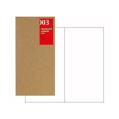 Traveler's Blank Notebook Refill - Regular Size