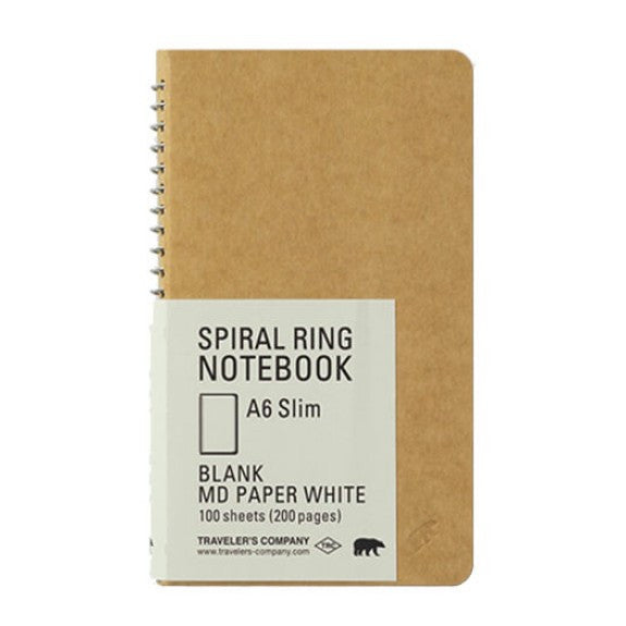 Travelers A5 Slim Blank Notebook w/ MD Paper White