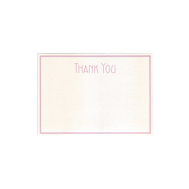 "G. Lalo Thank You Stationery Set - 4 1/4"" x 6"" - Lavender"
