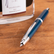 Pilot Vanishing Point Fountain Pen - Blue Carbonesque