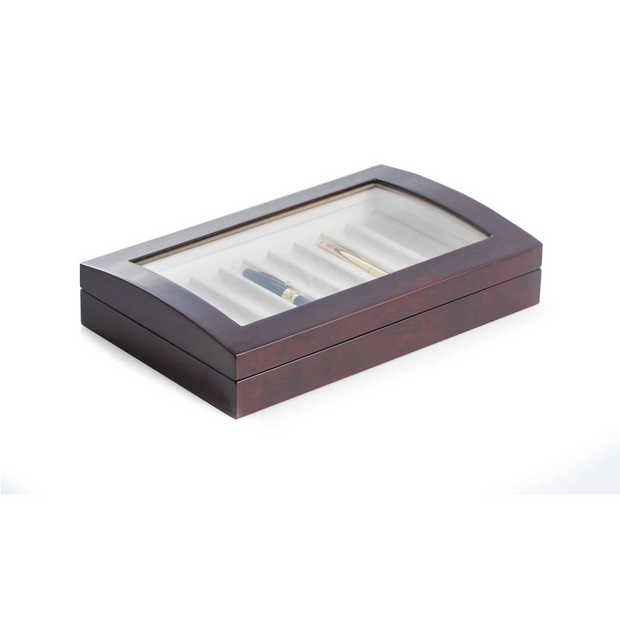 Lacquered Burl Wood 10 Pen Box