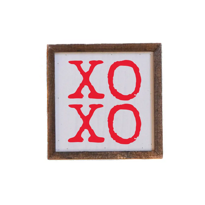 "XOXO Sign (red)- Valentine's Day Wall Art - 6"" x 6"""