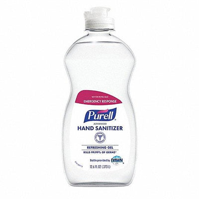 Advanced Hand Sanitizer Gel, Clean Scent, 12.6 oz Squeeze Bottle