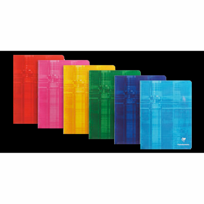 Clairefontaine Staplebound Notebook - Ruled 48 sheets - 6 x 8 1/4 - A5 - Assorted