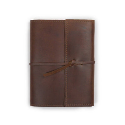 Writers Log Large Refillable Leather Notebook - Saddle