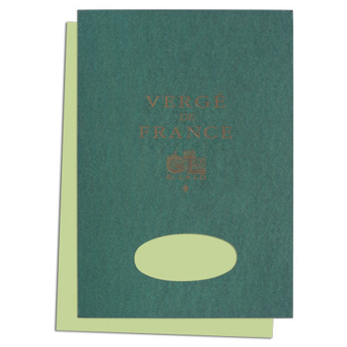 "G. Lalo ""Verge de France"" Tablet, Pistachio, 50 Sheets, 5 3/4"" x 8 1/4"""