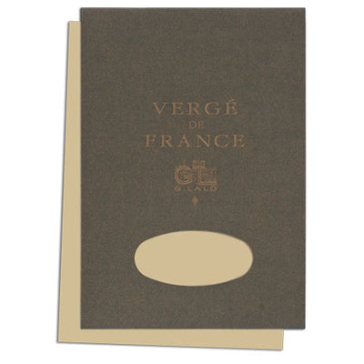 "G. Lalo ""Verge de France"" Tablet, Champagne, 50 Sheets, 5 3/4"" x 8 1/4"""
