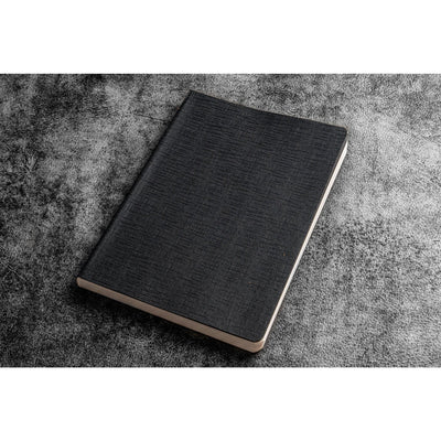 Galen Leather Everyday Notebook - Blank - Black - A5